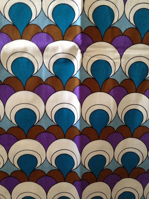60s70s geometric curtains