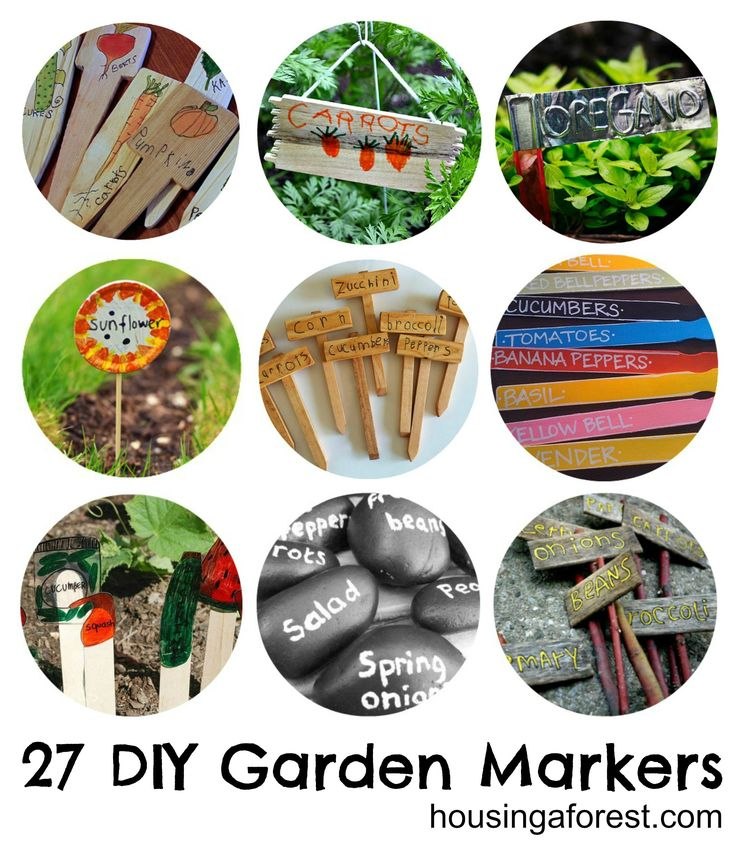 27 DIY Garden Markers - Housing a ForestHousing a Forest