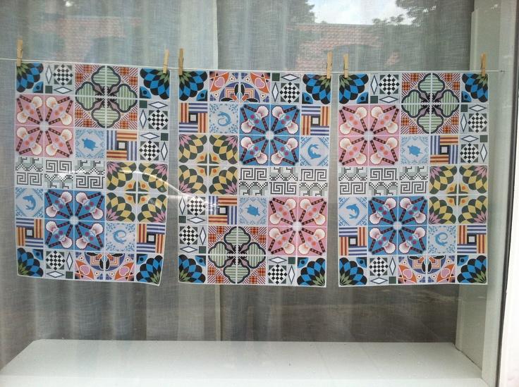 Tile designs, window, Stockholm.  #PinStockholm