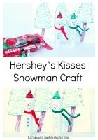 hershey s kisses snowman craft for the family more christmas crafts ...