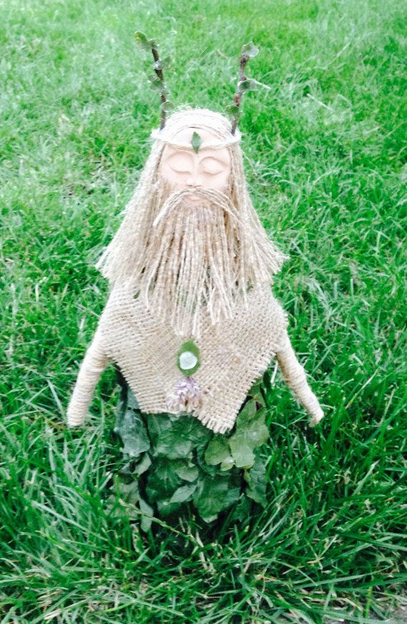 The Green Man Art Spirit Doll Pagan Wiccan by WhiteWolfCraft