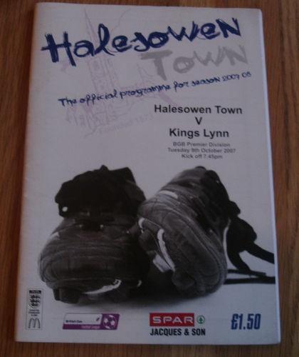 Away to Halesowen Town   9/10/2007   BGB Premier Division