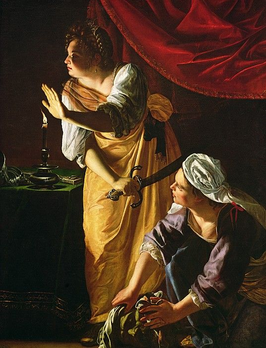 Judith and Maidservant With The Head of Holofernes - Artemisia Gentileschi