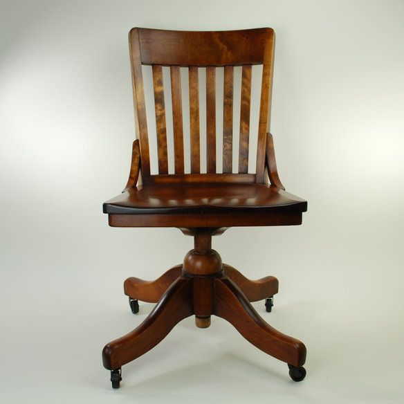 1940s B L Marble Chair Co Square Back Banker In
