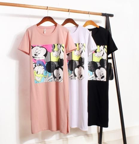 Donald Duck Mickey Mouse Cute Fashionable Blouse Dress - kawaiimoo