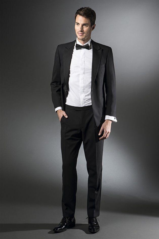 Black and White Wedding Dress for Groom
