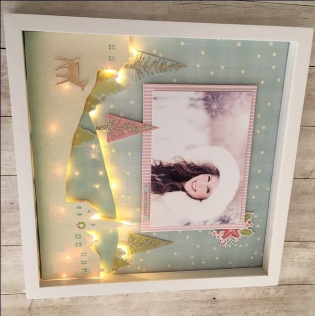 Sugar Plum Light Up Shadow Box Frame Chrimus Shadow Box