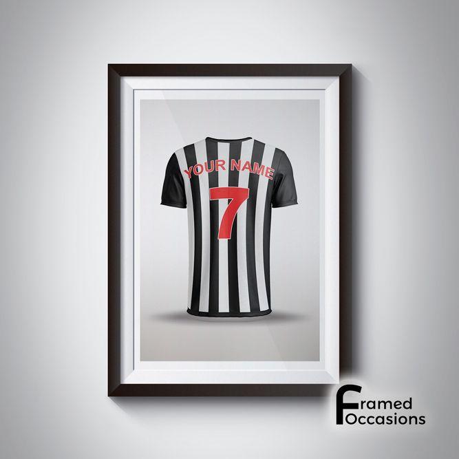 Personalised Newcastle United Football Shirt Print