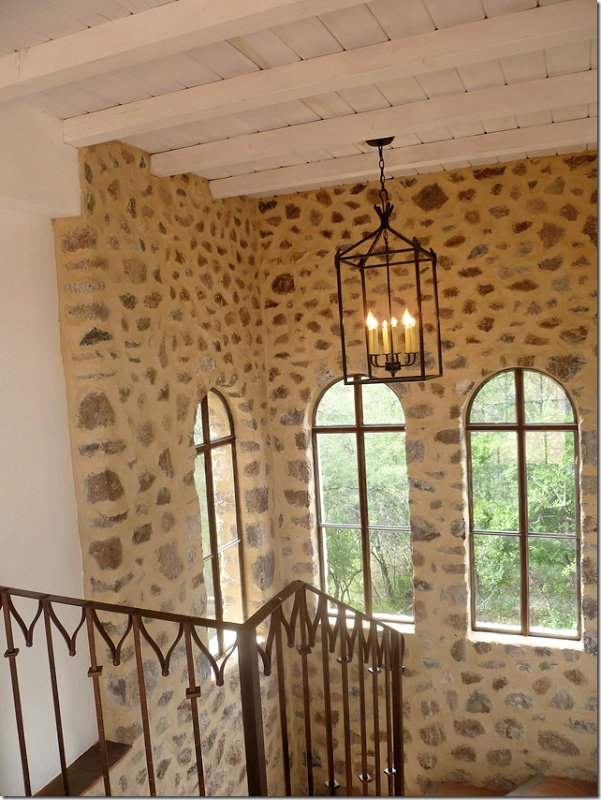 To remember: put lantern lighting in stairwell