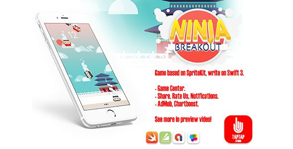 Ninja Breakout . You need click on red ninjas and collect it, don't miss it. Also don't touch black ninjas. It's endless type