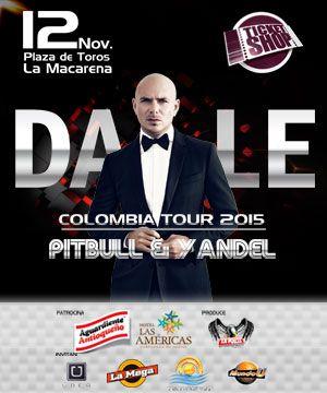 """PITBULL """"Dale"""" Colombia Tour 2015 – Medellin   ticketshop.com.co"""