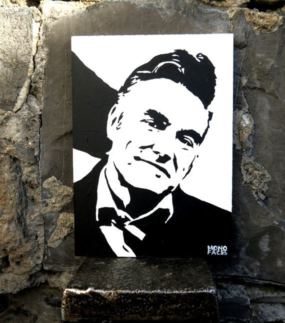 Hand painted acrylic piece of art of Morrissey. Gesso by MONOFACES, €14.00