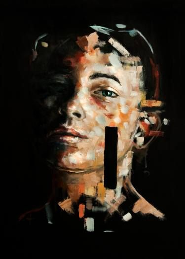 """Saatchi Art Artist Davide Cambria; Painting, """"Are You Also Frightened?"""" #art"""