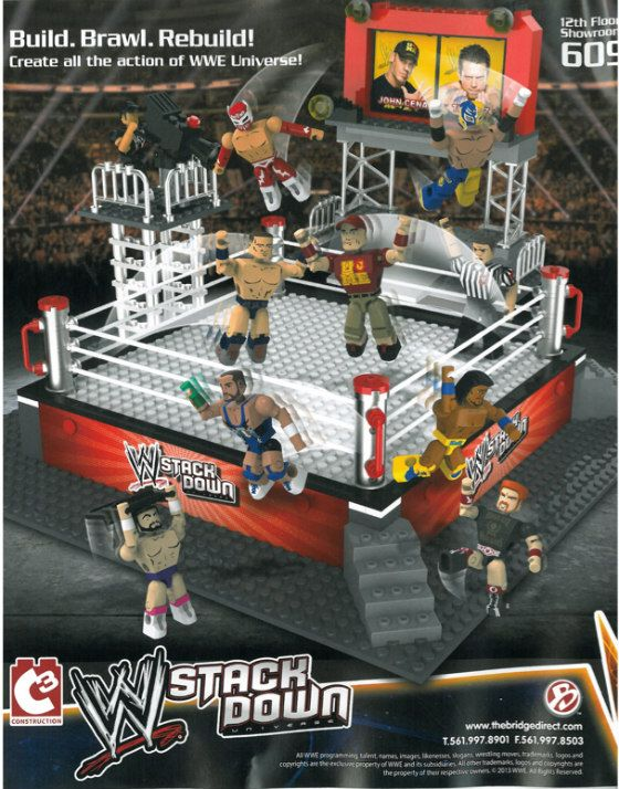 WWE Stackdown Toys - Combining Mini-Mate style figures with Lego-like blocks.