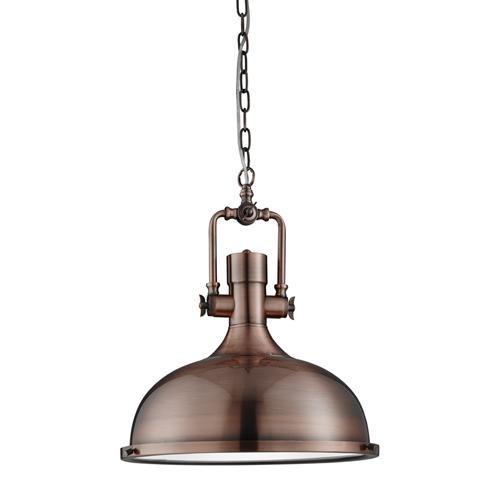 1322CU Antique Copper Industrial Style Pendant Light