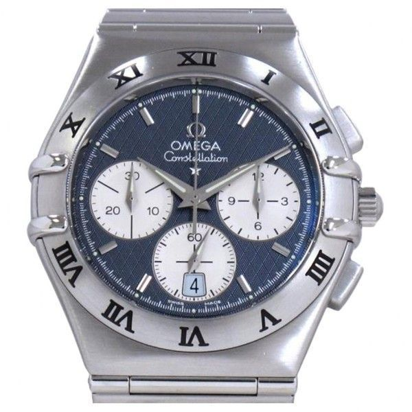 Pre-owned Omega Constellation Watch ($1,980) ❤ liked on Polyvore featuring men's fashion, men's jewelry, men's watches, blue, omega mens watches, mens blue watches, mens stainless steel watches, mens watches and pre owned mens rolex watches #manswatch #menswatches #menswatchesomega