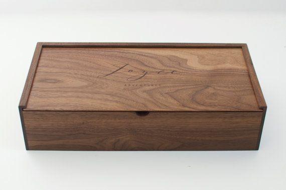 Boîte de grand souvenir - Photo en bois boîte - cadeau d