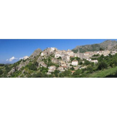 Low angle view of a town Speloncato Balagne Haute-Corse Corsica France Canvas Art - Panoramic Images (18 x 6)