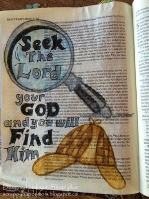 .....Scrappy Happy Mom: Bible Journaling Pages! A page from the book of Deuteronomy. More pages on the blog!!!