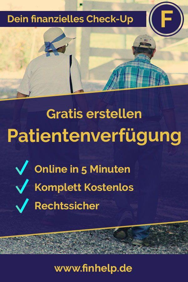 Du Willst Deine Patientenverfugung Kostenlos Erstellen Hier Erfahrst Du Wie Das Geht Kostenlos Patientenv Patientenverfugung Altersvorsorge Vermogensaufbau