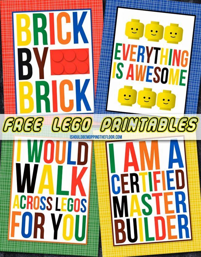 Free Lego Printables {free printable!}