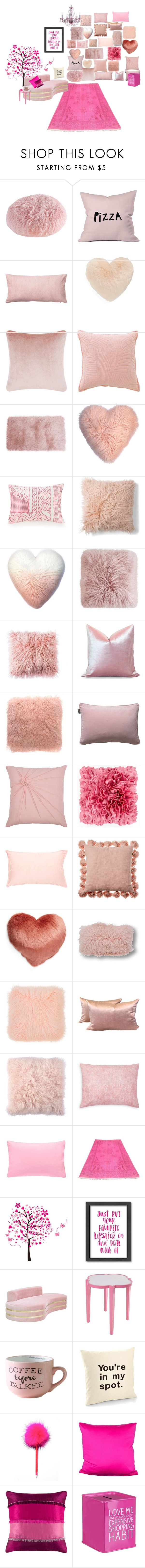 """Pink Room in a mansion"" by hharl-matthews ❤ liked on Polyvore featuring M. Kennedy Home, DENY Designs, Nordstrom, Tom Dixon, Vera Bradley, Eightmood, Acme Furniture, LINUM, Rizzy Home and Artisan Weaver"