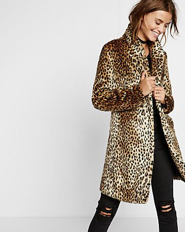 faux leopard fur coat from express. I have coupons!! Small                                                                                                                                                                                 More