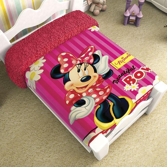 Cobertor Borrega Multiusos Minnie Mouse