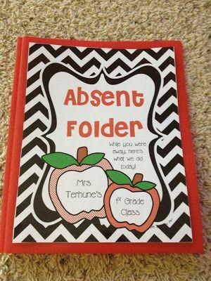 Mrs. Terhune's First Grade Site!: Absent Folders