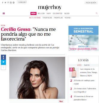 """CECILIA GESSA: Entrevista de Cecilia Gessa para la revista """"Mujer..."""