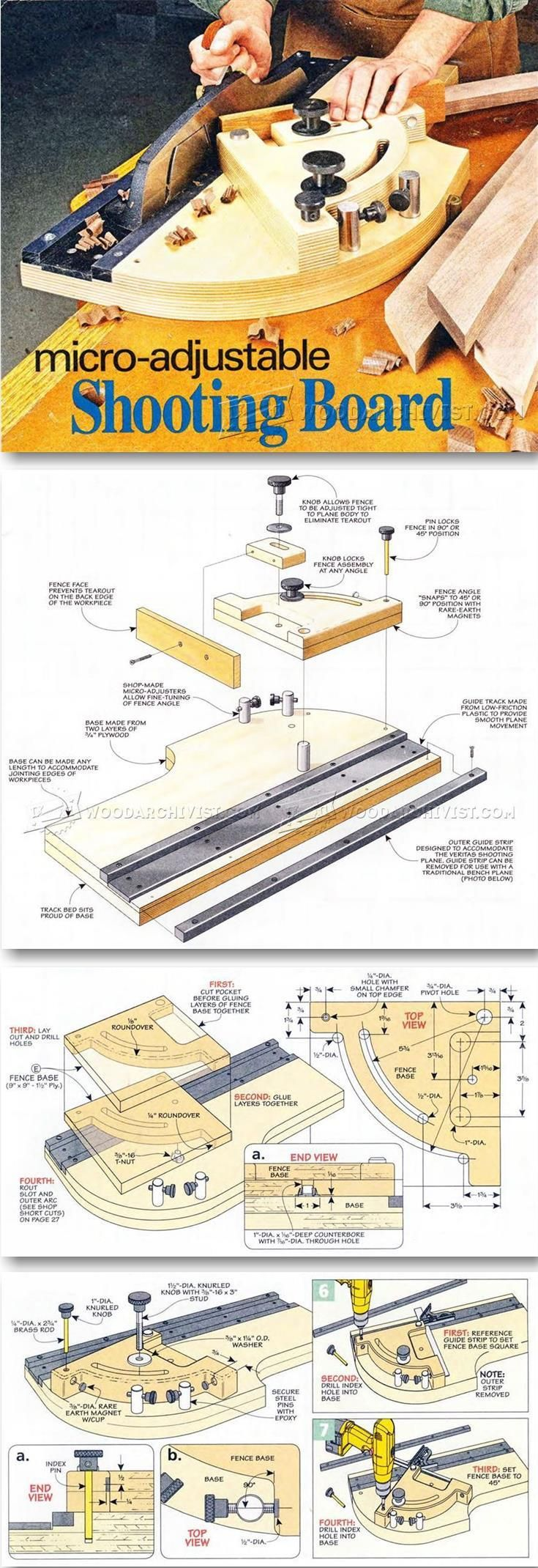 Micro-Adjustable Shooting Board - Joinery Tips, Jigs and Techniques | WoodArchivist.com