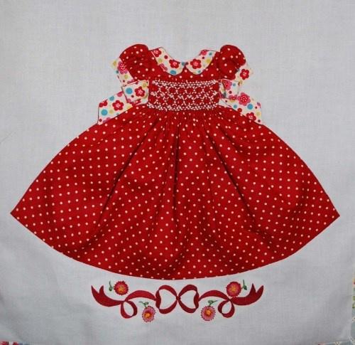 Smocked Dresses Quilt Block.