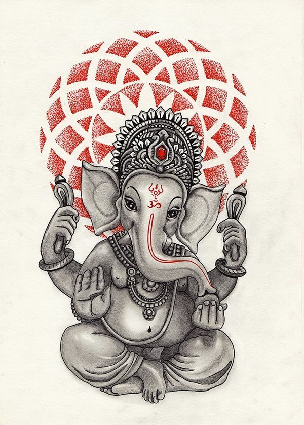 Ganpati bappa Morya by Daisy Schrijver, via Behance