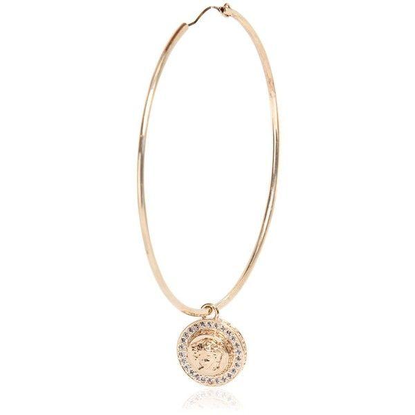 Beautiful Good Price Versace Online  Medusa Head Charm Hoop Earrings  Women