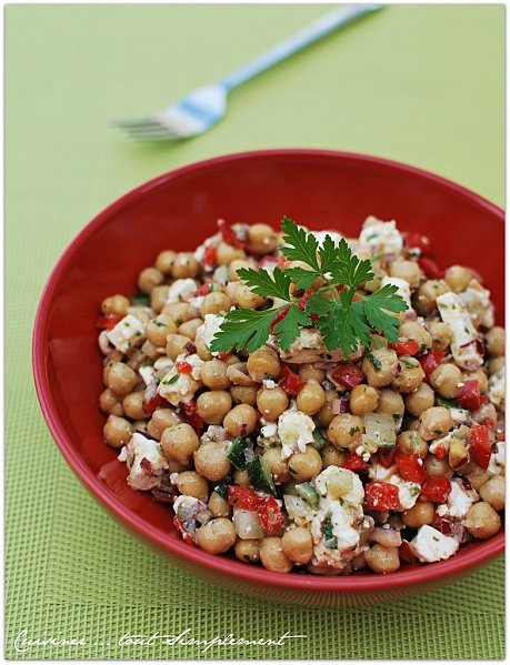 salade pois chiche - Féta