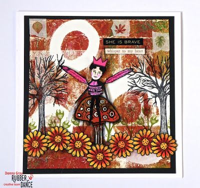 * Rubber Dance Blog *: Tutorial Tuesday - A Gelli print card mixed media style