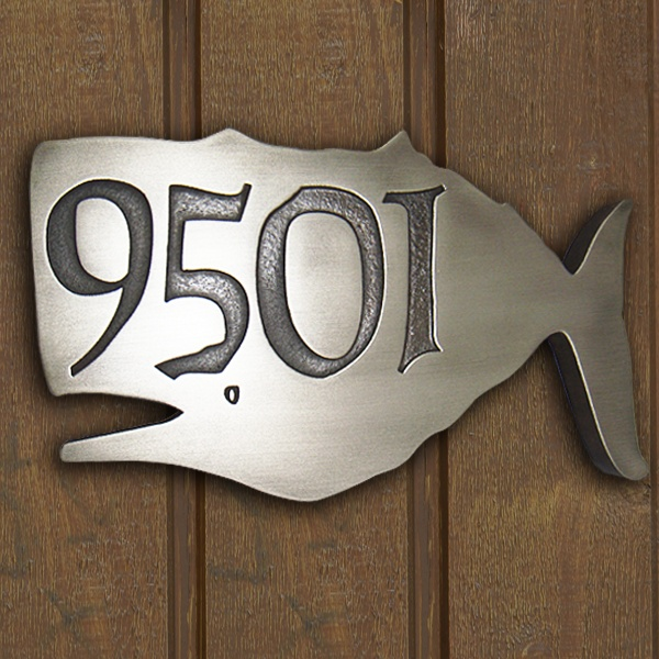 Whale House Number Address Plaque. Proudly made in the USA by Atlas Signs and Plaques #MadeInTheUSA #AtlasSignsAndPlaques