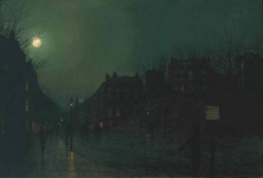 john atkinson grimshaw view of heath street by night paintings