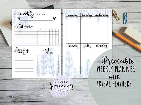 Check out this item in my Etsy shop https://www.etsy.com/listing/560132047/printable-planner-printable-weekly