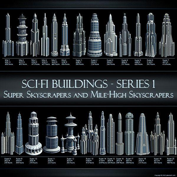 Sci-Fi buildings - $100