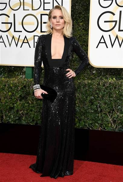 Kristen Bell Golden Globes red carpet 2017