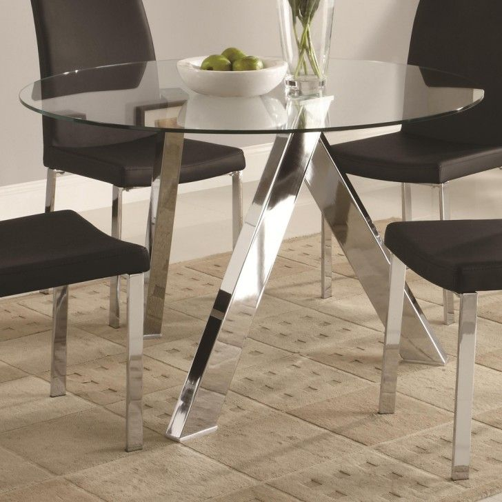 Using The Best Dining Table Glass Top On Your Home: Appealing Modern Round  Glassu2026