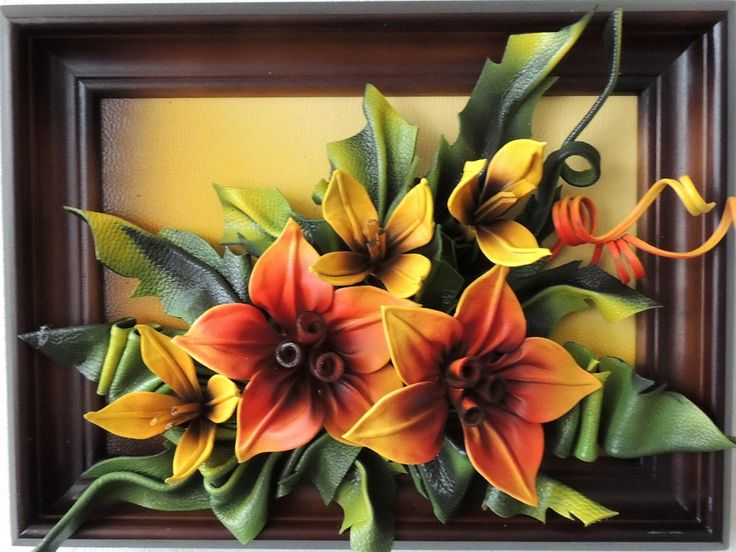 Handmade Leather Warm Colored Lillie's http://www.makmarketplace.com  Handmade Leather Warm Colored Lillie's Size: 40cm x 30cm Frame: Solid Wood, Brown Stained Oak Colors: Orange, Yellow, Green, Burgundy Material: Genuine Leather  https://plus.google.com/communities/107298104499962573861  https://www.facebook.com/pages/MAK-Marketplace/331889076912354  http://www.pinterest.com/MAKMarketplace/