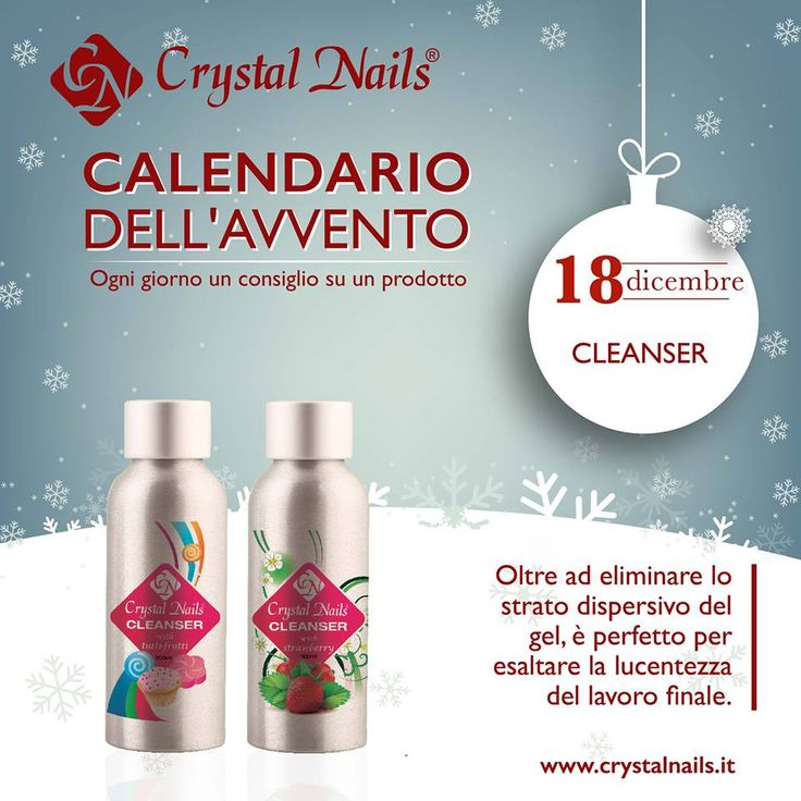 Calendario dell'avvento Crystal Nails - 18 dicembre #cleanser #crystalnails