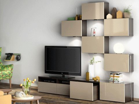 Best system amenagement maison pinterest catalogue et salons - Meuble tv suspendu ikea ...