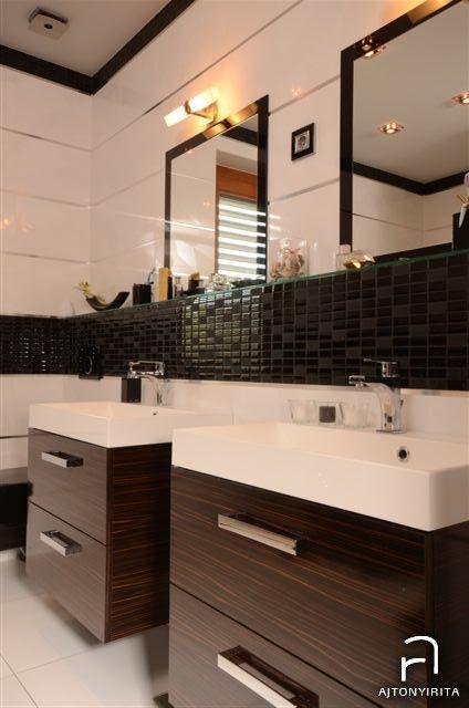 Merano és fekete - Modern wenge fürdő