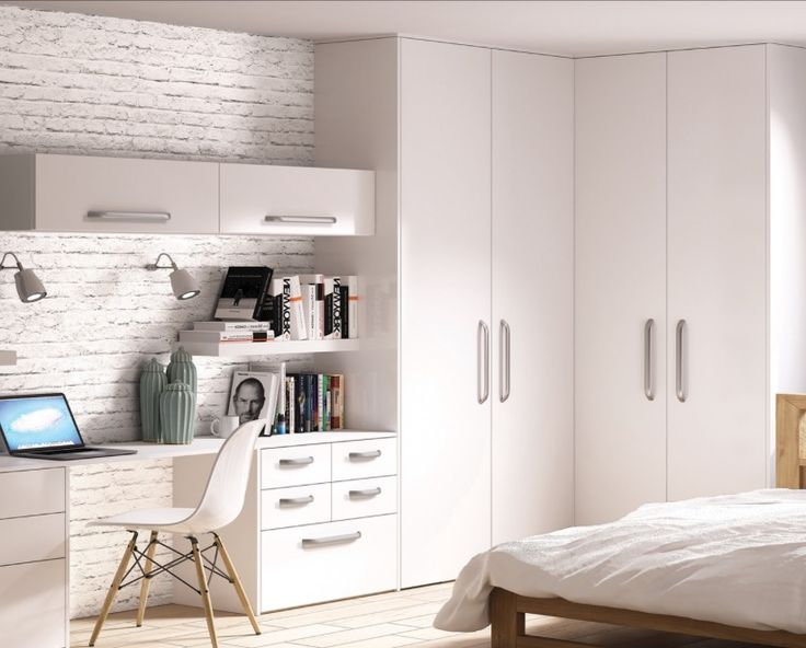 White replacement wardrobe doors from a selection at Just Click Kitchens. Hinged wardrobe doors in a wide choice of colours and styles.