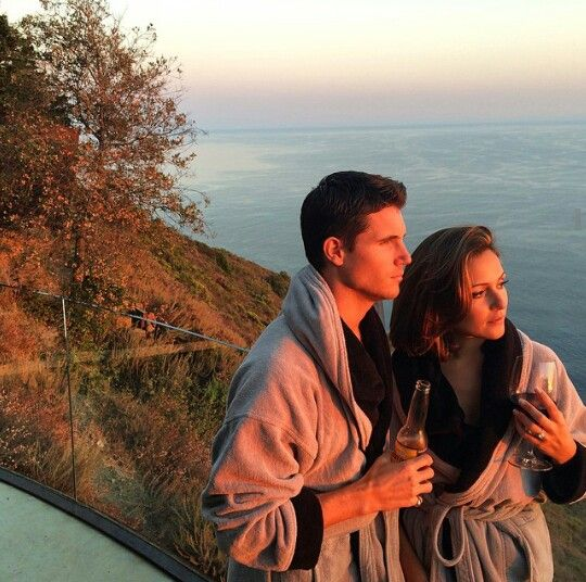 Italia Ricci and Robbie Amell engaged