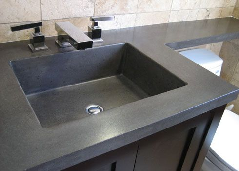 Concrete sinks vanity tops bathroom ideas Concrete countertops bathroom vanity