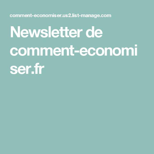 Newsletter de comment-economiser.fr